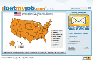 ILostMyJob.com Website Homepage